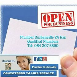 DURBANVILLE EMERGENCY PLUMBERS 24HRS CALL 0842075890 FOR BLOCKED DRAINS, GEYSER REPAIRS & PLUMBING